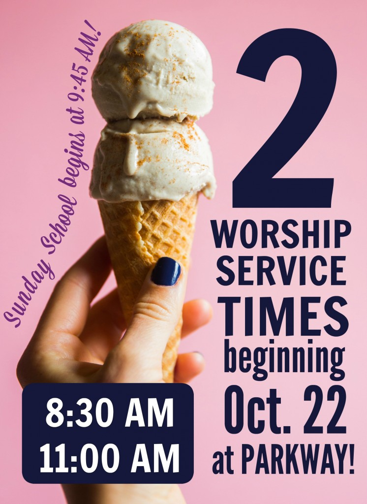 2 WORSHIP TIMES ice cream